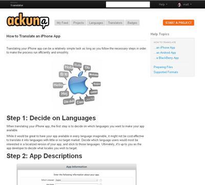 Ackuna: You won't get lost in translation