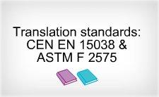 language translations, translation standards