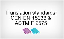 language translations, translation standards