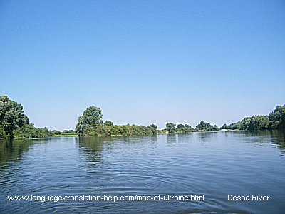 A place where the river Sudost unloads itself into the river Desna.