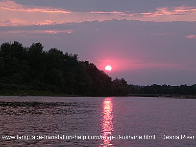 A beautiful sunset shot over the river Desna.